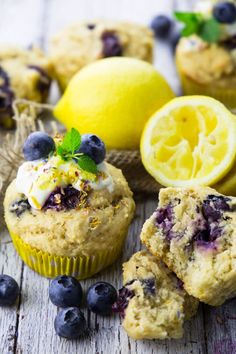 Eggless Blueberry Muffins - vegan and so easy!