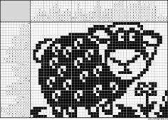 """Attēlu rezultāti vaicājumam """"японские кроссворды"""" Crochet Sheep, Crochet Animals, Knit Crochet, Crochet Curtains, Tapestry Crochet, Crochet Diagram, Filet Crochet, Knitting Charts, Knitting Patterns"""