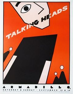 the talking heads gig posters | Talking Head - Armadillo | Concert Posters/Music Posters | Pinterest