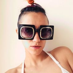 68082e682148 Depop - The creative community's mobile marketplace. Super cool funky and  different sunglasses.