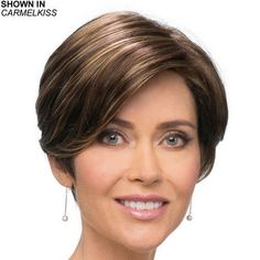 Esther Lace Front Wig by Estetica Designs is a fun and flirty pixie wig with a tapered nape and a lace front.
