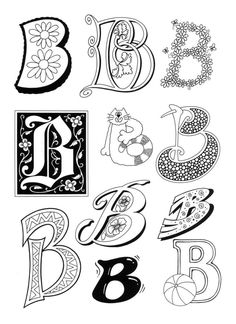 letters and coloring pages Barbsgalaxy