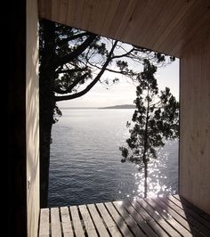 sauna by the lake in chile, panorama arquitectos