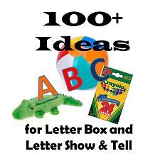 Fun ideas for learning the alphabet and teaching preschoolers. Letter show & tell ideas, reading activities, and preschool fun.