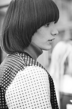 Backstage at J.W. Anderson  AW12, London Fashion Week.Oliver Greenall, Elite Models  by Cecilie Harris.
