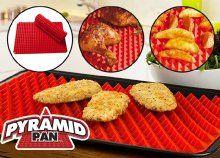 Pyramid Pan szilikon sütőlap, tökéletesen átsült ételek, könnyen tisztítható, 220°C-ig hőálló Grill Pan, Grilling, Griddle Pan, Crickets, Grill Party