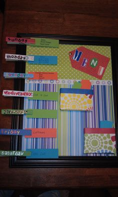 Menu Planner - easy gift idea