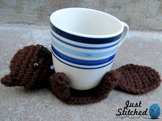 """juststitched: """"I saw a post in the crochet tag by eventidetempest that just inspired me a ridiculous amount, so I made a few mug-hugging animal coasters myself! They sure make me smile, and my..."""