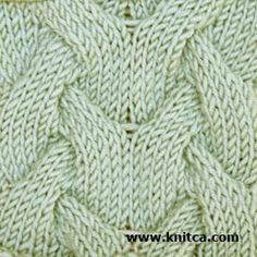 Right side of knitting stitch pattern – Cable 3