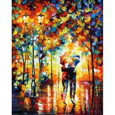 Under One Umbrella — Palette Knife Figure Modern Art Oil Painting On Canvas By Leonid Afremov Love Painting, Oil Painting On Canvas, Painting Prints, Canvas Wall Art, Art Prints, Couple Painting, Rain Painting, Knife Painting, Painting Abstract