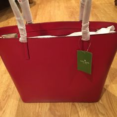 NWT Kate Spade Sawyer St Tote Leather$Firm Combining Gorgeous with Practicality this Kate Spade Bag is a Home Run!! Two Handles for easy carry, one interior zip pocket and two large Slip interior pockets. This Maxi Sawyer St is the bomb and selling at a Derp Discount!   Measures 15 in W and 11 in D. A Class Act! ❌No Trades,❌No Holds, No LOW offers! Priced to sell! kate spade Bags Totes