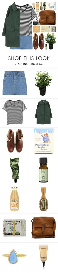 """DAY WEAR - DAY TRIP TO PADDINGTON"" by pretty-basic ❤ liked on Polyvore featuring Brucs, Monki, Acne Studios, Aesop, The Body Shop, Boomerang, Annette Ferdinandsen and MAC Cosmetics"