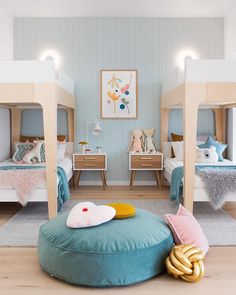 Choose from the largest collection of Kids Room Design & Decorating Ideas to add style. Discover best Kids Room interior inspiration photos for remodel & renovate. Kids Bedroom Sets, Girls Bedroom, Bedroom Ideas, Childs Bedroom, Bunk Beds For Girls Room, Twin Room, Lego Bedroom, Bunk Bed Rooms, Modern Kids Bedroom