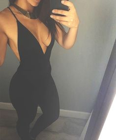 deep v line in a jumpsuit? love it