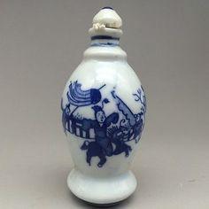 Китайская керамика чисто ручной живописи нюхательный бутылка лошади и люди