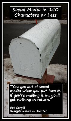 You get out of #SocialMedia what you put into it. If you're mailing it in, you'll get nothing in return.