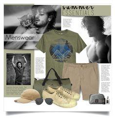 """Summer Menswear Essentials"" by lenochca ❤ liked on Polyvore featuring Univibe, MANGO MAN, adidas, Converse, Michael Kors, Laila, men's fashion, menswear and summermenswearessentials"