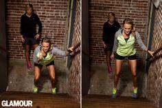 carrie underwood leg workout stair squat jump