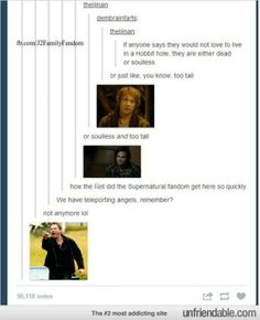 Supernatural fandom>>> you called?