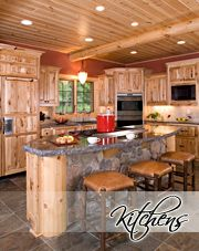 Wisconsin Log Homes Photo Gallery -- Log Home Kitchens
