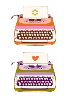 © melody miller colorful typewriters