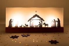 Luminary Nativity Scene oak | Etsy