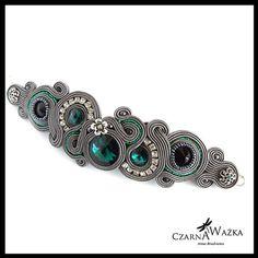 Grey soutache bracelet 2