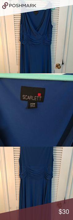 Scarlett 20W royal blue sleeveless dress A-Line Scarlett 20W royal blue sleeveless dress, A-Line shape Scarlett Dresses Midi