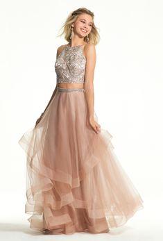 Camille La Vie 2-piece prom dress