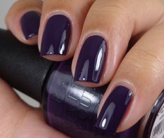 OPI:  ★ A Grape Affair ★  from the OPI Coca-Cola Collection 2014 ... deep purple creme nail polish