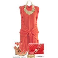 """Wardrobe Staples: Summer Sandals. Shiffon Dress"" by nuria-pellisa-salvado on Polyvore"