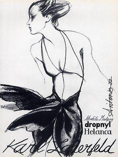 Karl Lagerfeld 1972 Antonio (Illustrator) Helanca & Leonard Textiles by Antonio (Illustrator) | Hprints.com