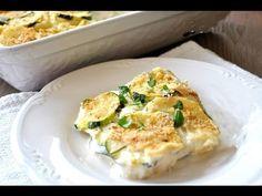 Parmigiana bianca  di zucchine e patate,RICETTA MOLTO FACILE