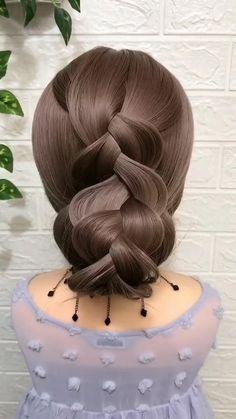Dark Blonde Hair Color, Brown Hair With Blonde Highlights, Hair Highlights, Work Hairstyles, Headband Hairstyles, Braided Hairstyles, Hairdo For Long Hair, Easy Hairstyles For Long Hair, Hair Style Vedio