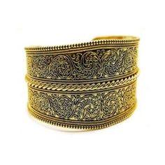 Karlas Gold Floral Design Cuff Bracelet - Final Sale.jpg