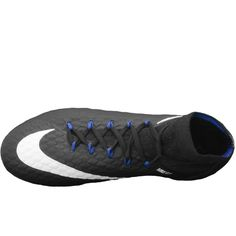 Free Shipping>>Buy your Nike Hypervenom Phatal III DF FG Soccer Cleats (Black/White/Game Royal) at your online soccer store - SOCCERCORNER.COM