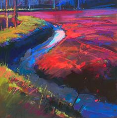 Ed Chesnovitch Art Pastel Landscape, Abstract Landscape, Landscape Paintings, Landscapes, Paintings I Love, Oil Paintings, Kunst Poster, Art Society, Impressionism