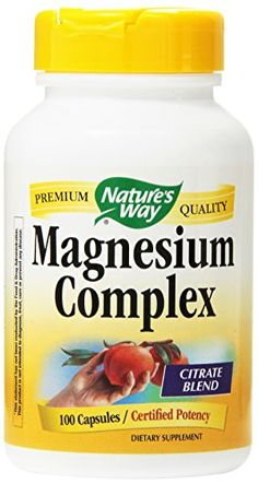 Nature's Way Magnesium Complex, 100 Capsules (Pack of Magnesium mediates proper muscle function (including the heart) and is essential for cellular production of protein & ATP. Our Magnesium is tested and produced to superior quality standards. Brain Nutrition, Cells Activity, Magnesium Supplements, Cellular Energy, Muscle Function, Neurotransmitters, Healthy Tips, Metabolism, Vitamins