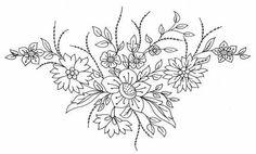 Flower for corner tattoo pattern cicekler-koseler-icin-karakalem Floral Embroidery Patterns, Rose Embroidery, Vintage Embroidery, Flower Patterns, Embroidery Designs, Art And Craft Design, Flower Art, Fabric Crafts, Coloring