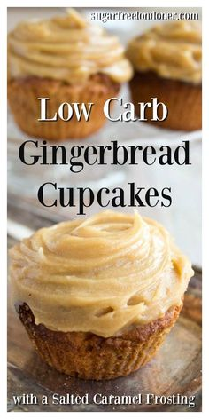 Low carb gingerbread cupcakes with a sugar-free salted caramel frosting - a fing. Low Crab Recipes Low carb gingerbread cupcakes with a sugar-free salted caramel frosting - a fing. Cupcakes Keto, Keto Cake, Keto Cheesecake, Diabetic Cupcakes, Sugar Free Cupcakes, Sugar Free Muffins, Keto Cookies, Sugar Free Desserts, Sugar Free Recipes