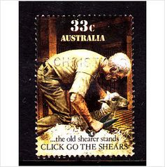 Australia 1986 SG1014 Click go the Shears (1) 33c Used on eBid United Kingdom