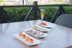 Our great appetizers. Starts from salmon roll, black pepper tuna, yellow tail and tuna martini