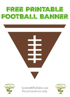 FREE Printable Football Banner for Your Super Bowl Party Ready for the Super Bowl? I have a free printable football banner you can use to decorate for your football super bowl party! Before we get to the free football banner, who do you think Football Super Bowl, Free Football, Football Shirts, Football Banquet, Football Tailgate, Football Birthday, Tailgating, Football Season, Sport Football