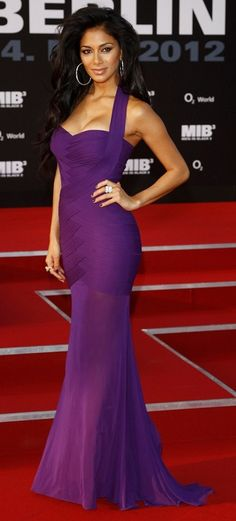 Nicole Scherzingwer~~Celebrity Fashion, Just a beautiful color/style!!!!!Luv tha Dress!!