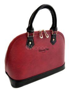 Saco de Tote moda Zipper PU couro feminino - Milanoo.com