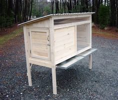 rabbit hutch slide out trays