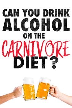 A lot of people ask if it's okay to drink alcohol while on the carnivore diet. Hence we wrote an article with a lot of surprising info on why you should or shouldn't! Zero Carb Diet, No Carb Diets, Low Carb, Meat Diet, Carnivore, Easy Meal Plans, Keto Chocolate Chips, Diets For Women, Getting Drunk