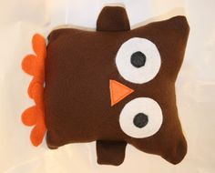 Owl. Looks like a nice, easy sewing project to get me started. :)