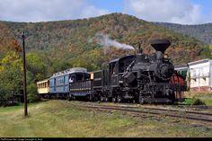 CASS 6 Cass Scenic Railroad Steam 3-Truck Heisler at Durbin, West Virginia by JL Scott