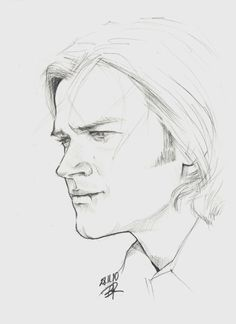 Sam by ~Blakravell on deviantART Supernatural Drawings, Supernatural Fan Art, Jared Padalecki, Destiel, Drawing For Beginners, Drawing Tips, Drawing Ideas, Pencil Drawings, Art Drawings